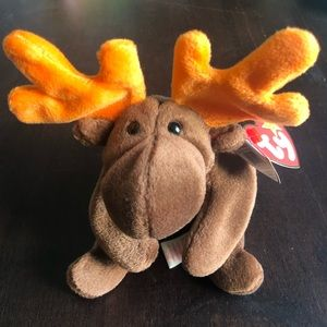 Retired TY Beanie Baby Chocolate the Moose 1993